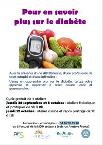 ateliers diabète à Mistral - affiche
