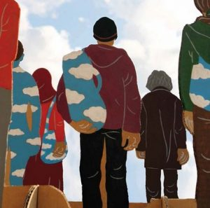 """extrait de l'affiche projet """"figures de l'exil"""", MJC Voiron"""