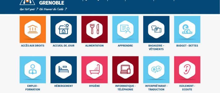 "La plateforme en ligne ""Solidarités Grenoble"""